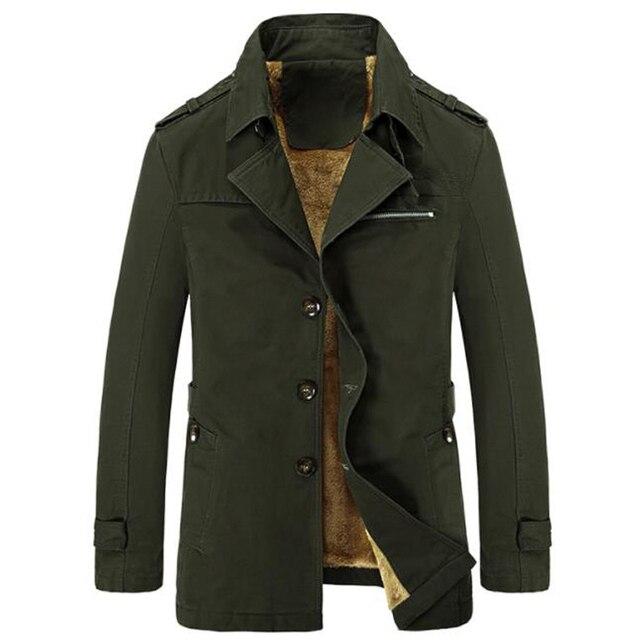 Brand New Inverno Trench Coat Designer Caldo di Spessore 2018 Sottile Casuale Giacca A Vento Maschile Giacche di Colore Puro casaco masculino