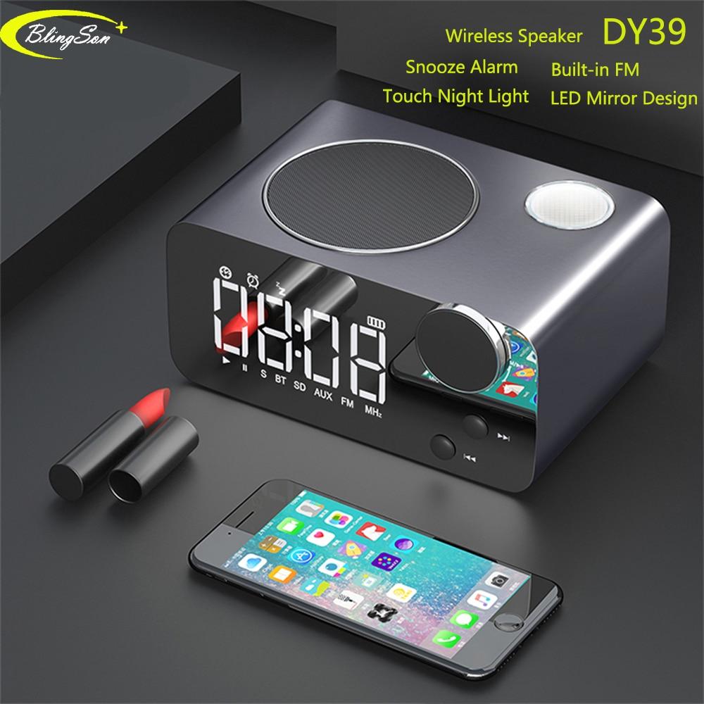 Ambitieus Bluetooth 4.2 Radio Speaker Led Display Wekker Dual Eenheden Draadloze Luidspreker Met Fm Radio Snooze Tafel Klok Voor Ios Android
