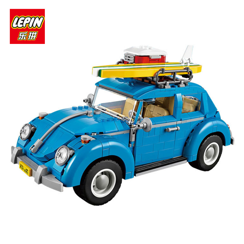 LEPIN 21003 1193Pcs Technic Volkswagen Beetle Creator Series City Car Building Model Bricks Blocks for children Compatible 21003 lepin 15004 2313pcs city creator series fire brigade model building blocks bricks toys for children gift compatible 10197