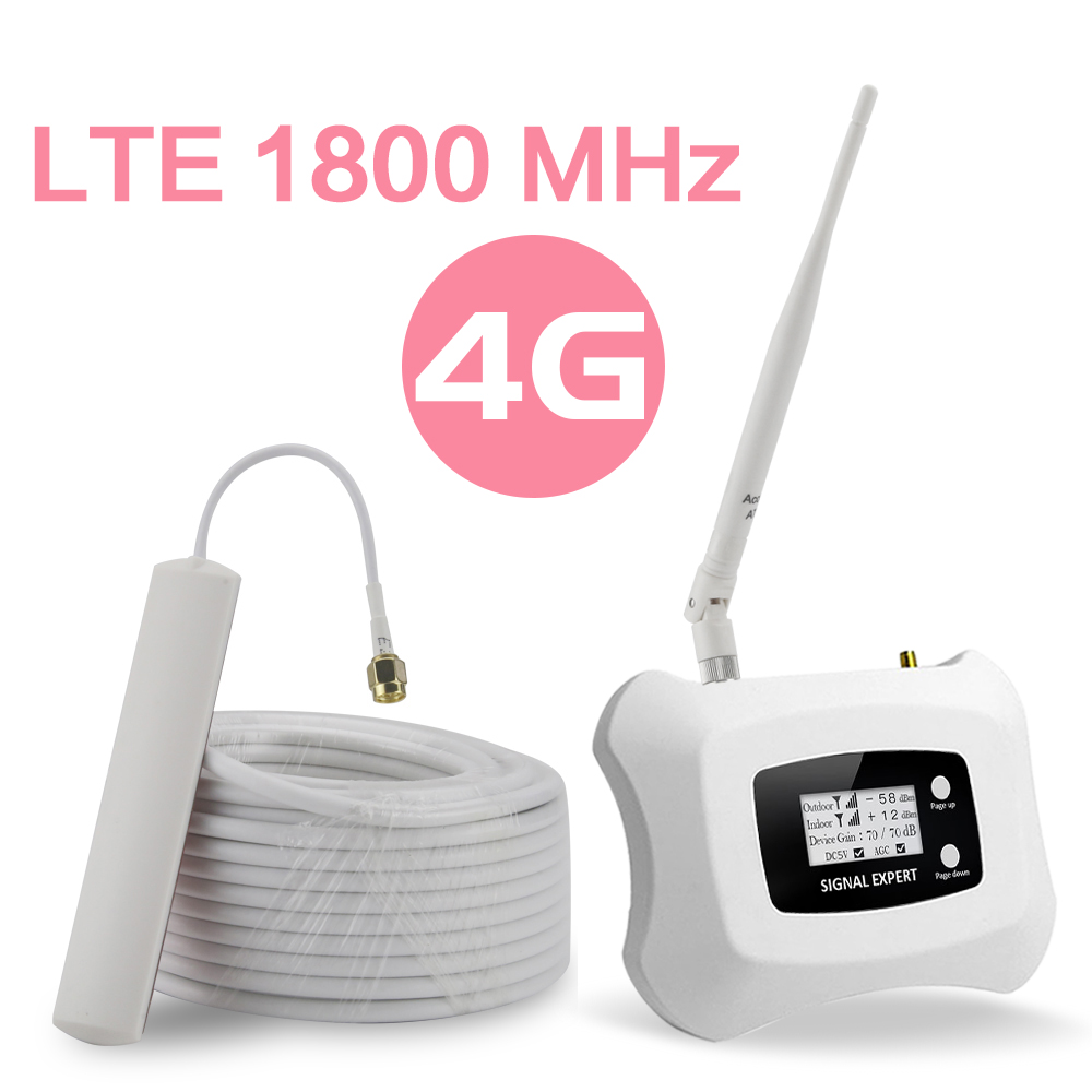 4G Cellular Signal Repeater GSM 1800 MHz Band 3 LCD Display 70dB Gain 4G DCS LTE 1800 Mobile Phone Booster 4G Amplifier @AS-D1