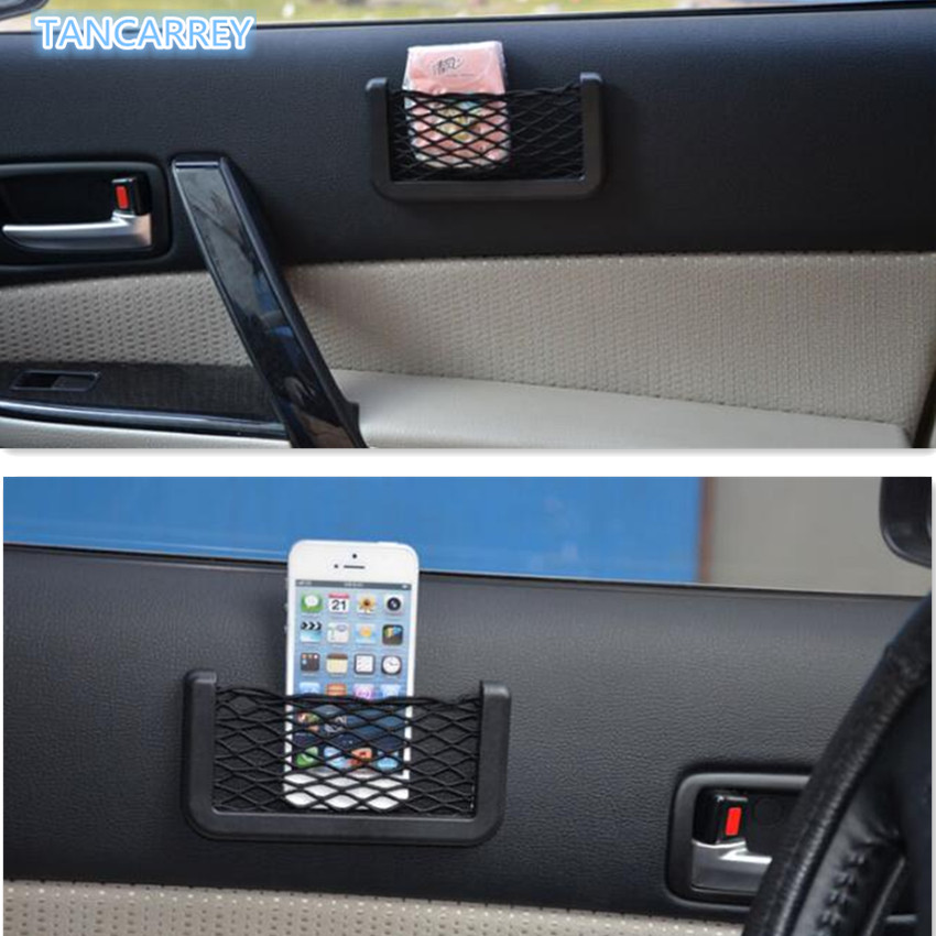 Hot Car accessories Auto Storage net pocket FOR honda vfr <font><b>800</b></font> ford focus <font><b>3</b></font> android ford focus 2015 volkswagen transporter t5 image