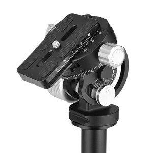 Image 3 - Andoer VH 10 2 Wayหัวขาตั้งกล้องดูนกPan/เอียงPanoramicหัวหน้าw/ที่วางจำหน่ายจานด่วนเปลี่ยนสำหรับSirui L10 RRS MH 02