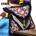 Étnico Bordado Do Vintage bolsa de Ombro Da Lona Sacos Do Mensageiro Hmong Handmade Multicolor Femme Sac a Dos Bordado Bolsa Saco Corpo Cruz