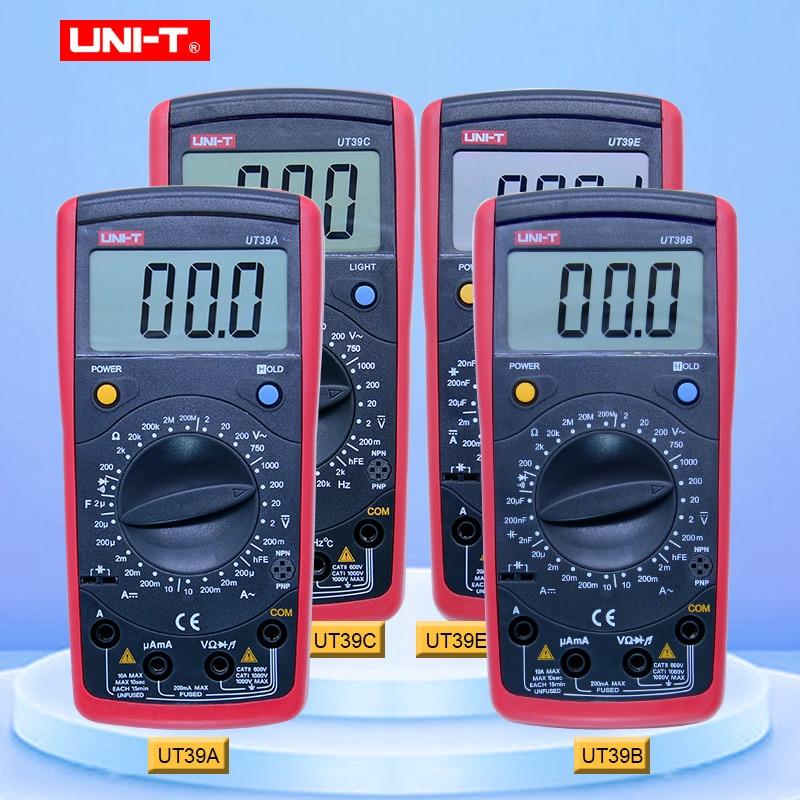 Digital Multimeter UNI T UT39A UT39B UT39C UT39E AC DC Handheld multimetro ture rms with lcd