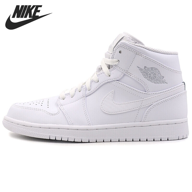 Original New Arrival 2017 NIKE AIR 1 MID Men's Basketball Shoes Sneakers nike nike air jordan 1 mid original girl kids basketball shoes children causal skateboarding sneakers