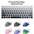 США Английский Макет Силиконовая Беспроводная Клавиатура Крышка для Apple Новый Магия Клавиатура Выпуска в 2015 году MLA22LL/Клавиатура Коёи наклейки