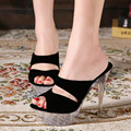 Plus Size Transparent Woemn Slippers Summer Shoes Sandals Sexy Platform Women Sandal High Heels Pump 14cm