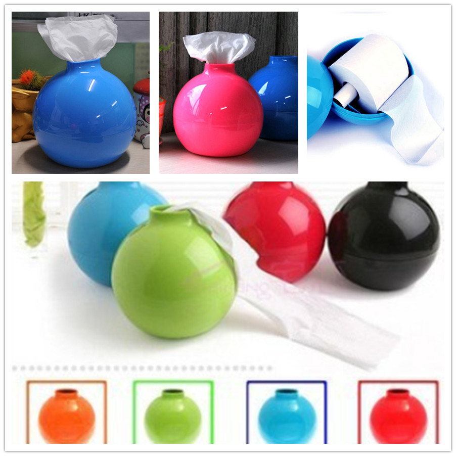 New Arrival High Quality Creative Fashion Home Interior Decor Round Funny Bomb Tissue Paper towels Box