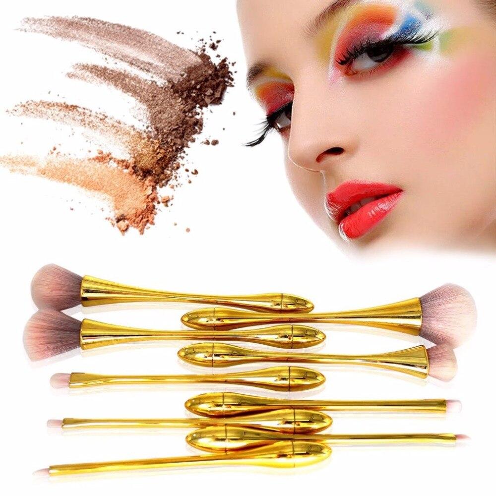 Professional 9pcs Make Up Brushes Set Thin Waist Soft Synthetic Hair Powder Foundation Eyeshadow Brushes Beauty Cosmetic Tool