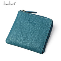 Women Genuine Leather Purse Female Wallets Womens Mini Coin Purses Credit Card Holder Ladies Clutch Money Pouch Natural Skin