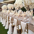 20 Peças Preço de Fábrica Decoração de Casamento Tampa Da Cadeira Sashes Banquetes Local Decoração Chiffon 75*200 cm Custom Made Cadeira Sash