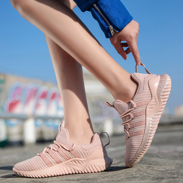 Sport Sneakers for Women Scarpe Donna Fly Knitting Breathable Shoes Woman High Quality Footwear Female Shoes Flats Dropshipping 3