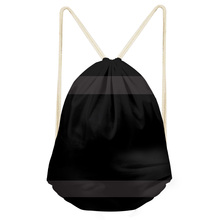 Noisy Designs Simple Black Lattice Dust Bag Men Drawstring Bags Portable Backpacks Casual String Shoes Pocket