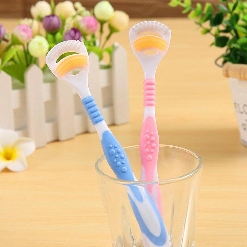 2 шт., двухсторонний очиститель для ухода за зубами, щетка, скребок для орального языка, инструмент для здоровья, для взрослых, разные цвета, инструменты для чистки языка