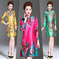 Chinese Dress Vintage East Style Women Fashion Print Retro Stand Collar Slim Improved cheongsam qipao Chinese Traditional Dress