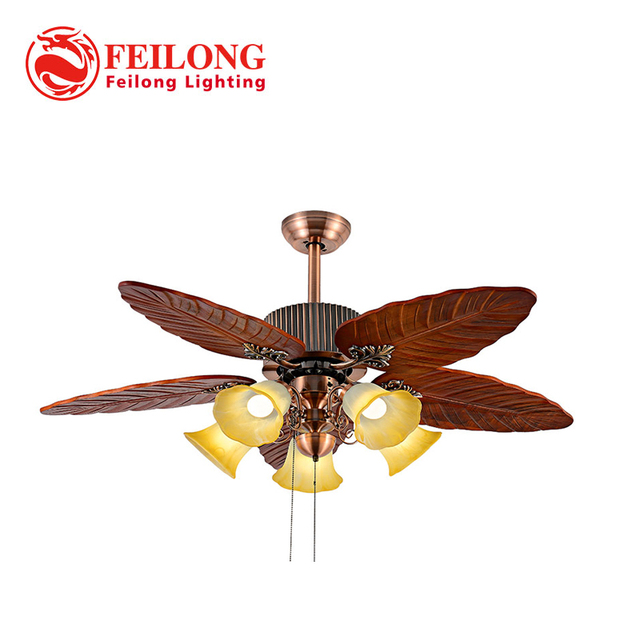 Ceiling Fan Huge Leaf Blades With Five Light Kits Pull Chain Control Outdoor Fans