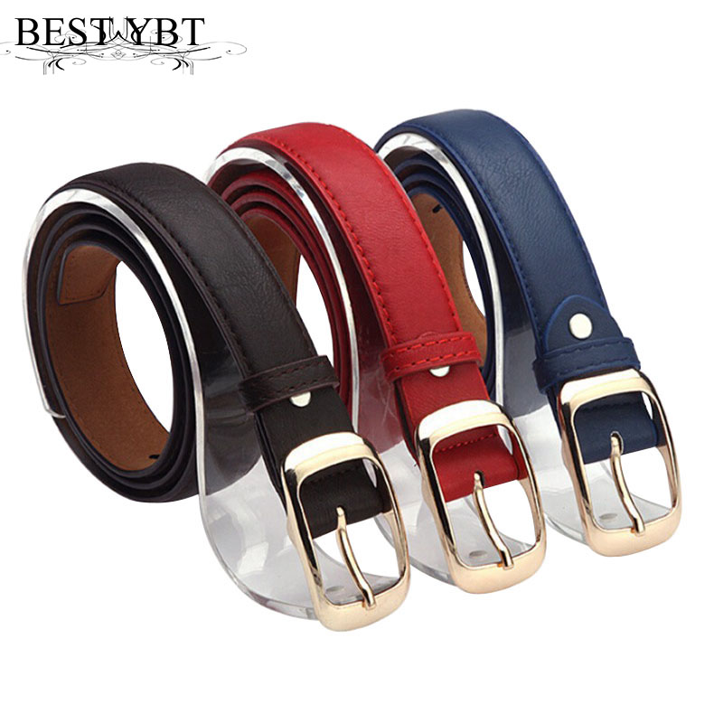 Best YBT Fashion Women Belt Imitation Designer Hot Ladies Faux Leather Pin Automatic Buckle Casual High Quality  Women Belts