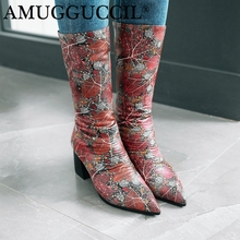 2019 New Plus Big Size 33-43 Black Red Pink Zip Fashion High Heel Mid Calf Female Lady Autumn Winter Women Boots X1792 2018 new cow suede plus big size 34 42 black brown zip buckle fashion knee high autumn winter lady females womens boots x1690