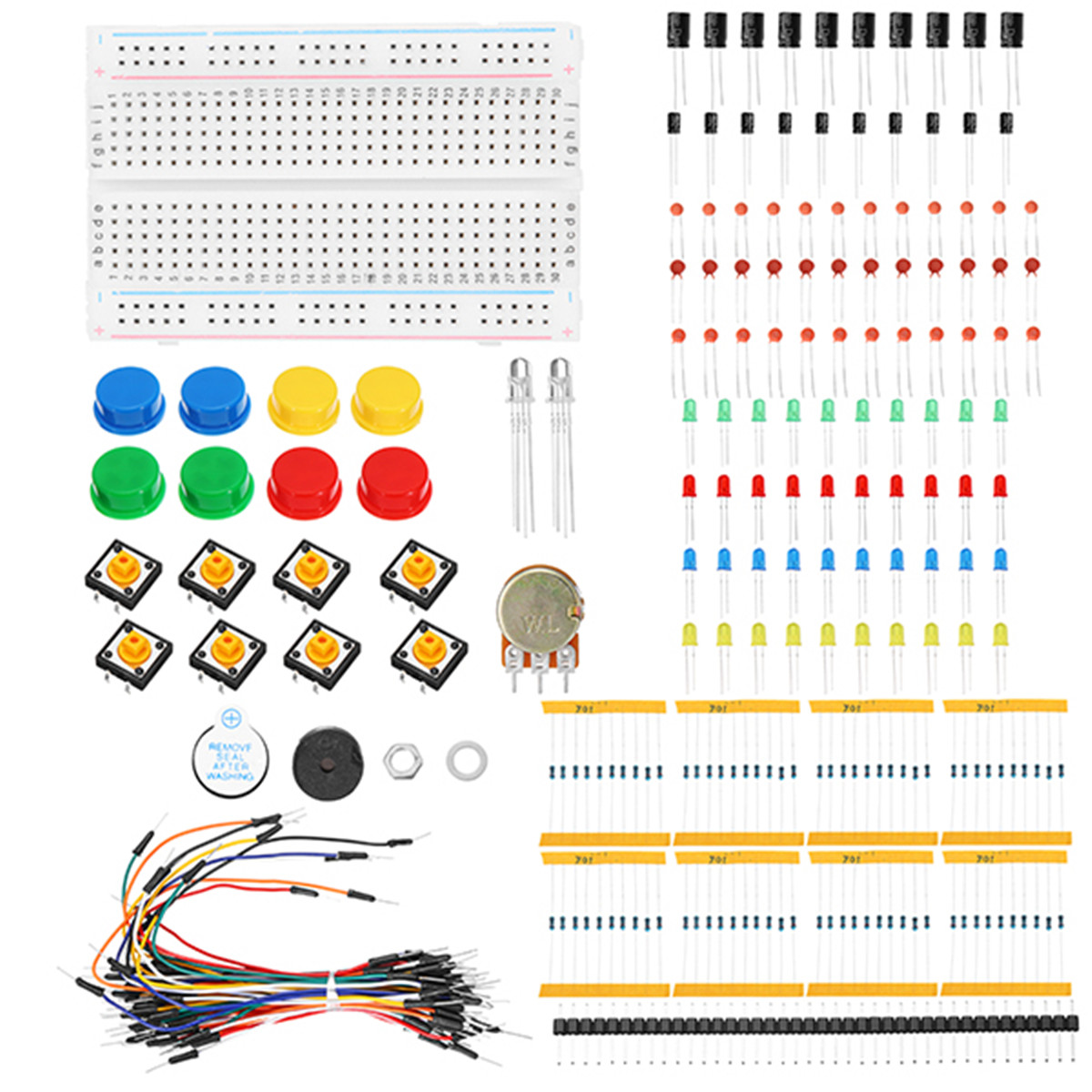1 Set Components Starter Kit 400 Point Breadboard 30 X Jumper Wires Project 61 Breadboarded High Pass Filter Learning For Arduino Resistor Capacitor Wire Potentiometer