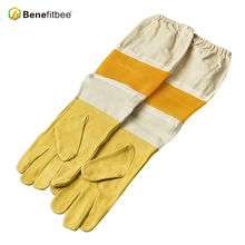 Top Marke Benefitbee Biene Handschuhe Bienenzucht Handschuh Schaffell Neue Entlüftet Mesh Handschuhe mit Langen Ärmeln Apicultura Bee Ausrüstung