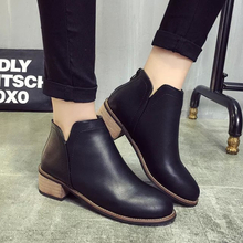 Spring/Autumn New Classic Ankle Women Boots Martin Boots Leathers Shoes Woman Riding Equestrian Slip-On Fashion Ladies Shoes цены онлайн