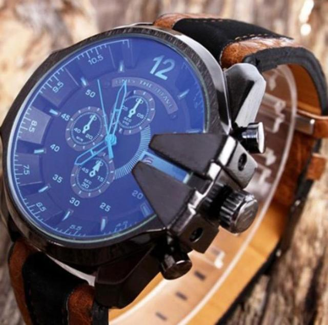 2017 New Aimecor Men's Analog Sport Steel Case Quartz Dial Synthetic Leather Wrist Watch Hot Dropshipping L628