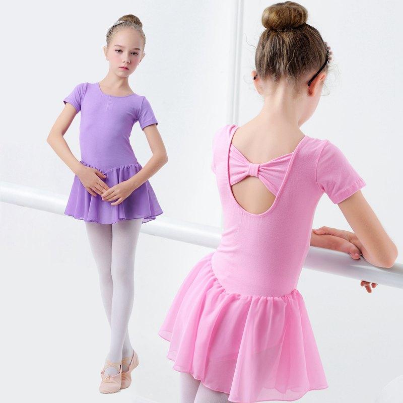 Vestido de ballet para niños Faldas de baile de gasa transparente Ropa de ballet para niños Ropa de baile Ropa de entrenamiento para niñas