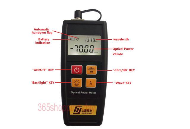 Miniatura Medidor de Potencia Óptica Tester Common Interface FC/SC/ST-YJ-350C (-50 ~ + 26 dBm)