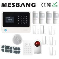 wireless wifi alarm system with more sensor pir sensor with switch English, French,Russian,Spanish,Dutch free shipping by DHL