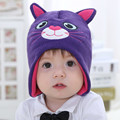 baby & kids boys girls cartoon cat knitted beanie fleece hats children new fashion winter casual warm hats children head wear