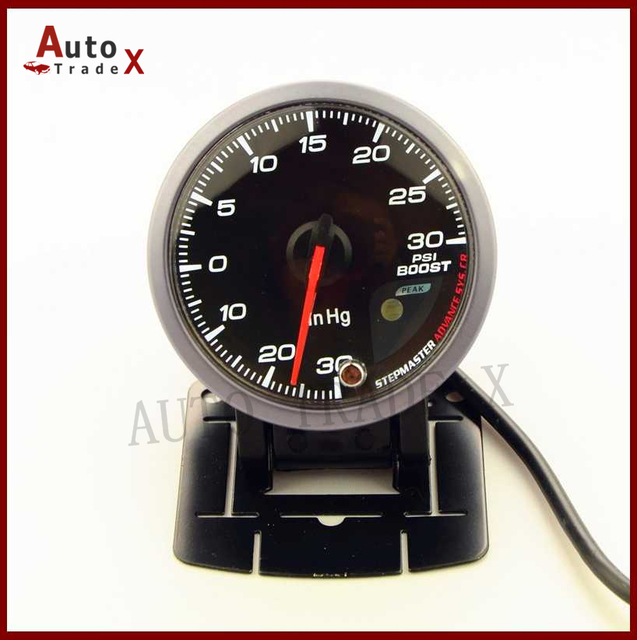 "2.5"" 60MM CR Style Stepper Motor Boost Turbo Gauge PSI With Sensor"