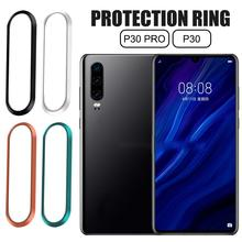 Tempered Glass Camera Protector For Huawei P30 P30Pro Metal Rear Lens Ring Scratch-resistant Full Cover Circle