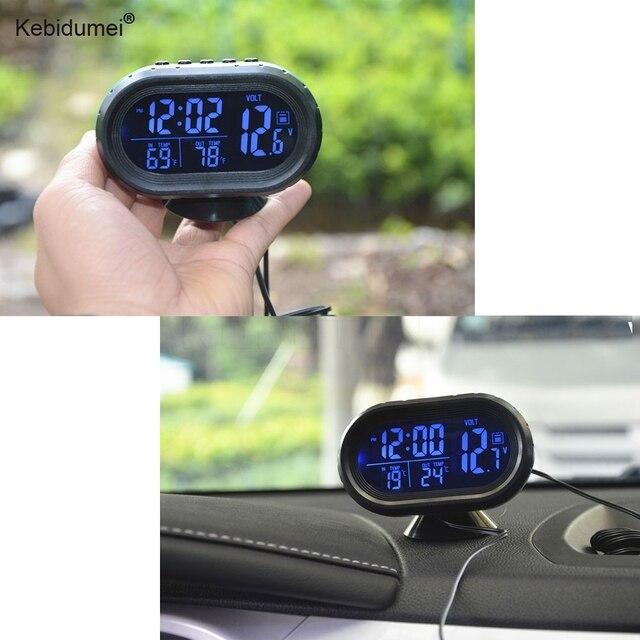 eaced83f7ec8 Sikeo automóvil reloj Digital del termómetro del coche del voltímetro de la  batería del coche medidor