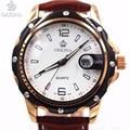 Orkina Mens Relógios Top Marca de Luxo Auto Data de Couro Marrom de Boa Qualidade Moda Quartzo Homens Relógio À Prova D' Água relogio masculino
