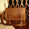 Men's Genuine Leather Shoulder Messenger Bag Cross body Satchel