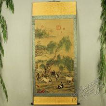 China Antique collection Calligraphy and painting The eight Horse diagram