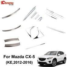 Pare-choc arrière chromé pour Mazda CX-5 CX5 KE 2012, 2013, 2014, 2015, moulage de corps latéral, protection pour décoration automobile