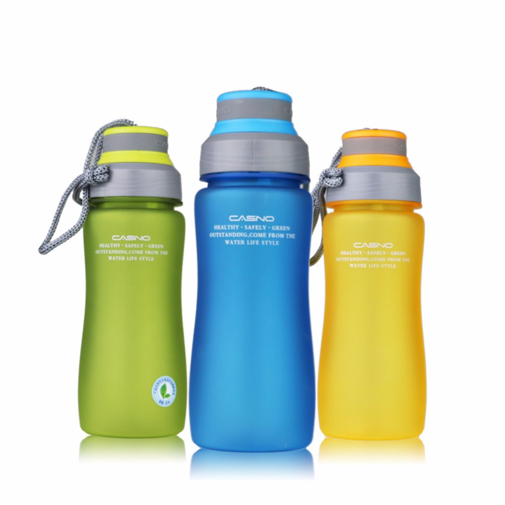BPA Free 600ml Leak Proof Sports Plastic My Water Bottle Portable Rope With Tea Student water kettle Drop shipping A1967c
