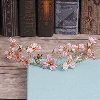 Korean Bride Crown Sen Female Hair Ornaments Wedding Wreath Hoop Wedding Accessories And White 3493