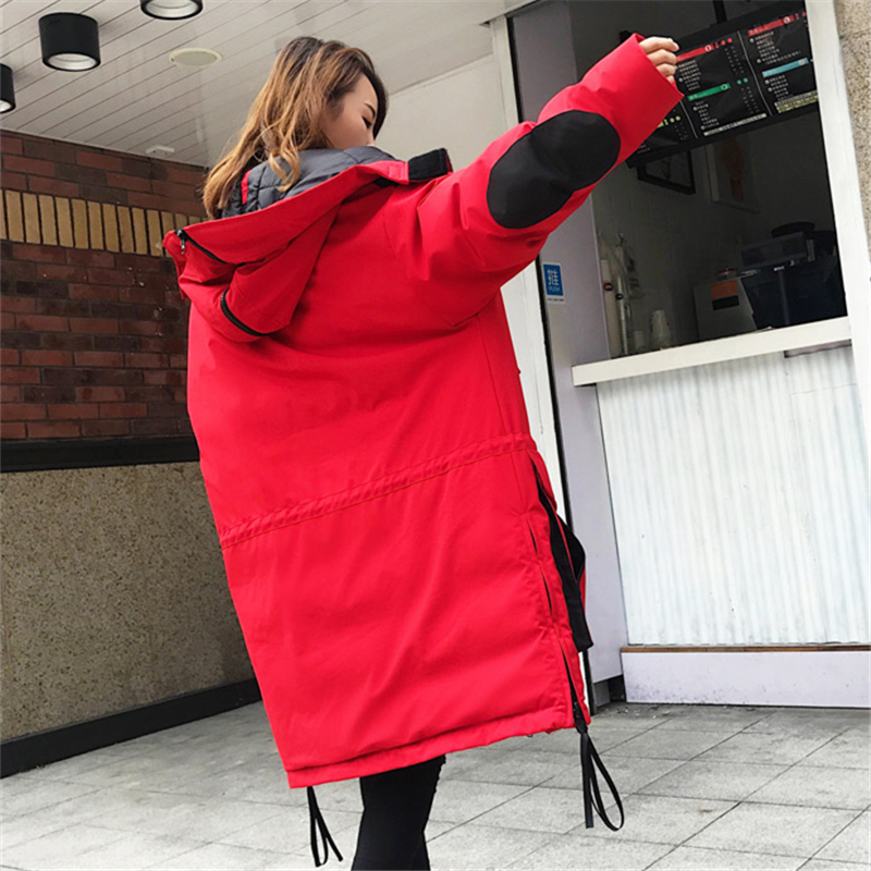 De Veste Femmes Longue Hjb291 Manteau Le Section Mode Genoux Plus Black Sur Outillage Taille red À Capuchon Bas Lâche Hiver Les Nouveau Marée 2018 Couple Vers Pw7Ovx