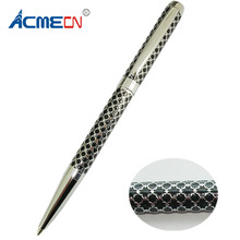 Unique Design Brass Ballpoint Pen Embossing Pattern 28g Parker style refill Metal Slim Unisex Branded Pens Factory Writing Pens 2018 new high quality carved branded ball pen unisex checker pattern white pen luxury 40g rose gold metal heavy pens for writing