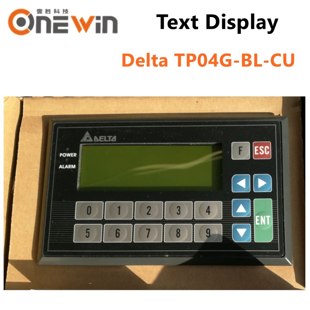 DELTA TP04G-BL-CU Text Panel display HMI STN LCD single color 4 Lines Display model USB Download only for Delta PLCDELTA TP04G-BL-CU Text Panel display HMI STN LCD single color 4 Lines Display model USB Download only for Delta PLC