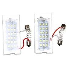 2 шт./компл. 18 светодиодный ошибок номерной знак свет для BMW X5 E53 X3 E83 1999-2006X3 E83 2003-2010 стайлинга автомобилей аксессуары