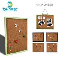 35*45cm 나무 프레임 게시판 코르크 보드 11 색 메모 사진 핀 코르크 보드 무료 액세서리와 함께 무료 배송