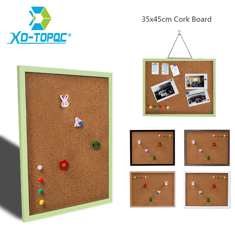 XINDI 35*45cm MDF Frame Bulletin Cork Board 5 Colors Memo Photos Pin Cork Boards For Notes With Free Accessories Free Shipping цена и фото