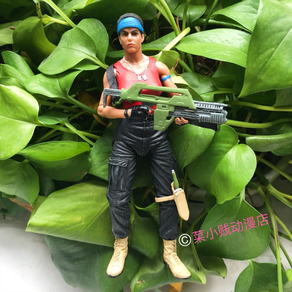 Genuine NECA Science Monster Movie Female Role Jeanette Alien vs. Predator AVP Ripley Movable Model Action Figure Toy 1pcs alien vs predator amanda mixed human avp soldier ripley 17cm model collectie kids movie brinquedos series sci fi film neca