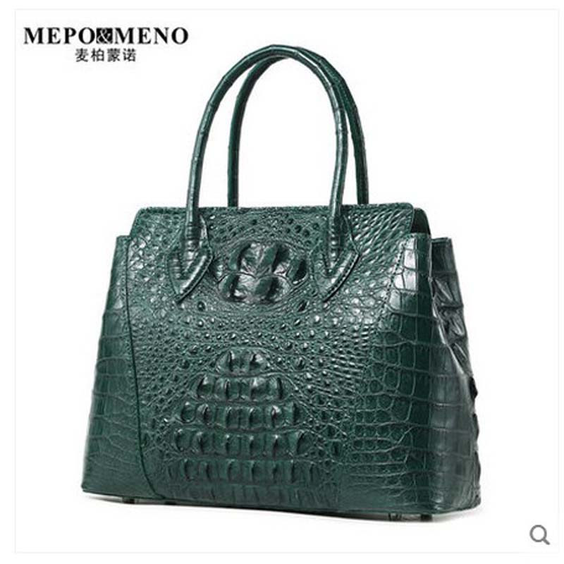 maibomengnuo Thailand real crocodile women handbag lady bag fashion ladies hand arm to carry a new style of banquet
