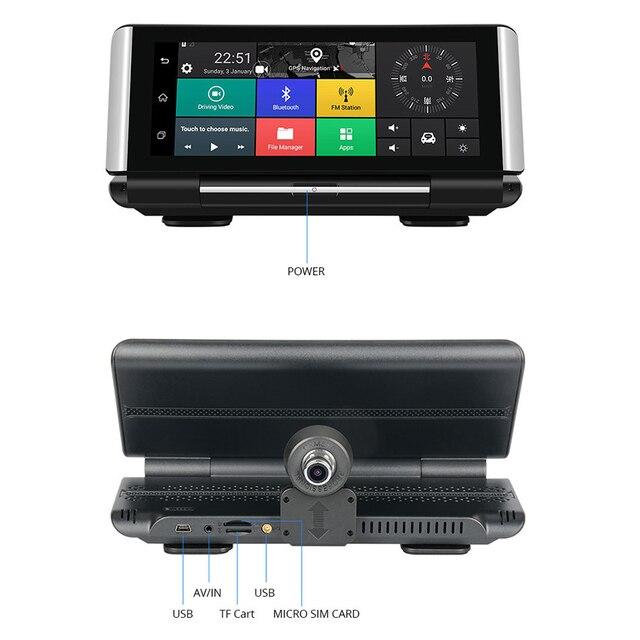 Bluavido 7 Pollici 4G Macchina Fotografica Dellautomobile DVR GPS FHD 1080P Android Dash Cam ADAS di Navigazione Auto Video Recorder dual Lens Cruscotto della macchina fotografica