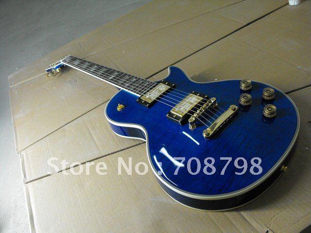Newest arrival P Supreme electric guitar blue burst