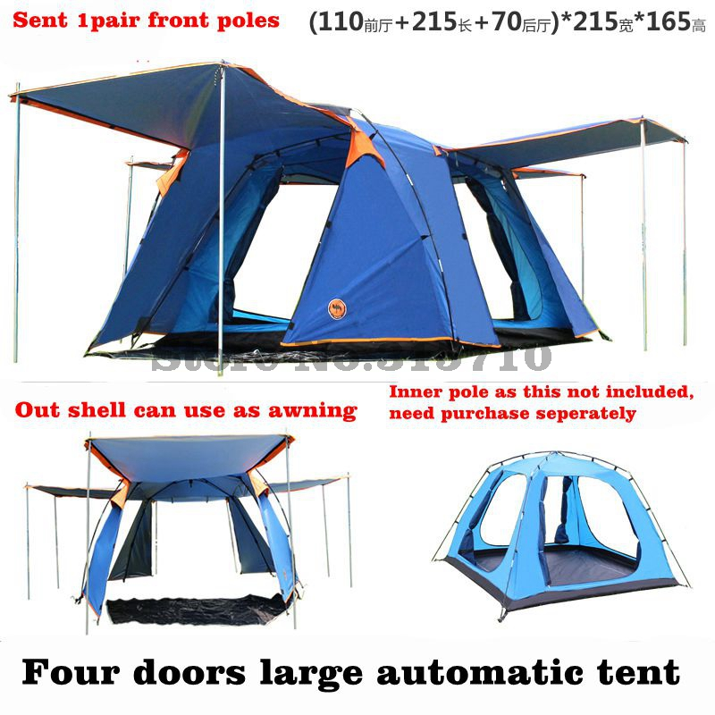 Camel 4doors 3-4persons fully-automatic camping family tent in good quality family travel tent include 1pair front polesCamel 4doors 3-4persons fully-automatic camping family tent in good quality family travel tent include 1pair front poles